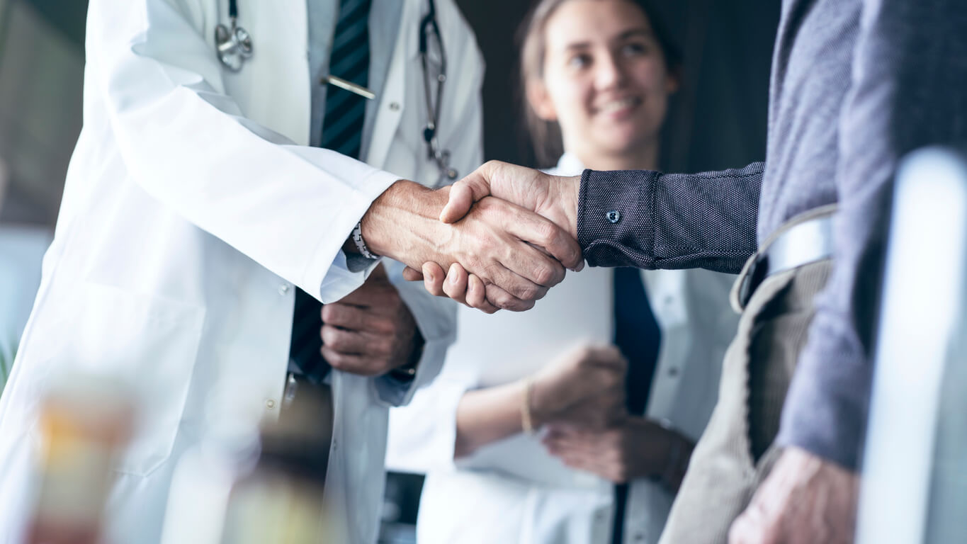shaking hands after contributory negligence claim turned over
